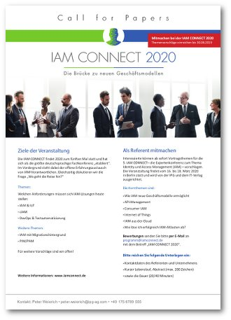 Call for Papers - IAM CONNECT 2020